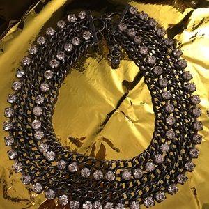 Rhinestone collar necklace